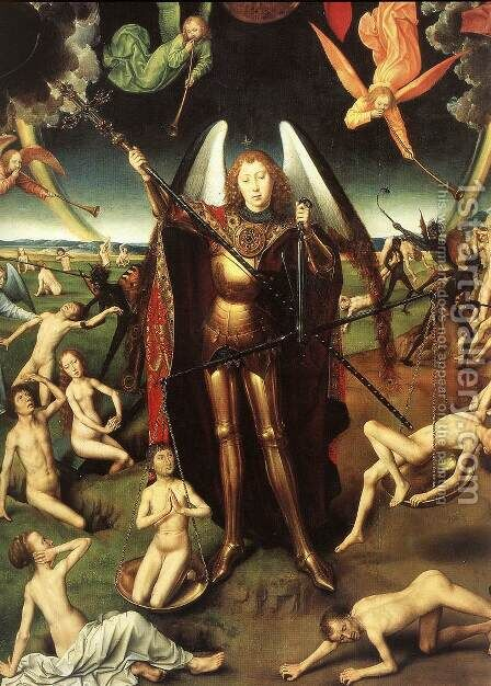 Last Judgment Triptych (detail-5) 1467-71 by Hans Memling - Reproduction Oil Painting