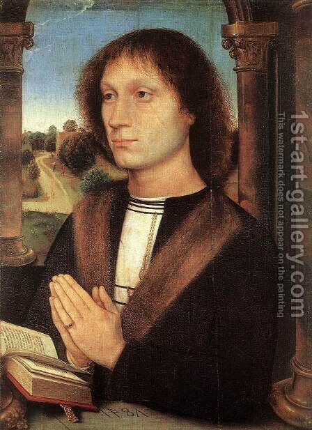 Portinari Triptych (right wing) 1487 by Hans Memling - Reproduction Oil Painting