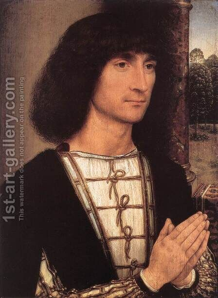 Portrait of a Young Man 1485-90 by Hans Memling - Reproduction Oil Painting