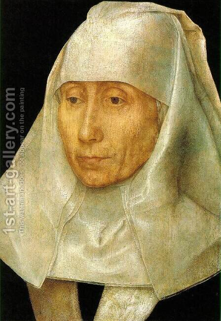 Portrait of an Old Woman 1468-70 by Hans Memling - Reproduction Oil Painting