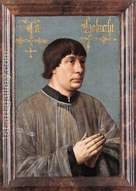Portrait of Jacob Obrecht 1496 by Hans Memling - Reproduction Oil Painting