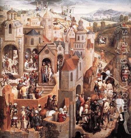 Scenes from the Passion of Christ (detail-1) 1470-71 by Hans Memling - Reproduction Oil Painting