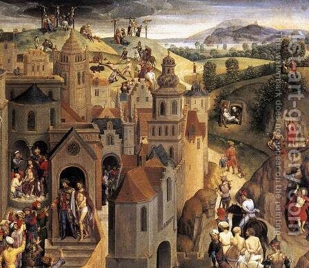 Scenes from the Passion of Christ (detail-4) 1470-71 by Hans Memling - Reproduction Oil Painting
