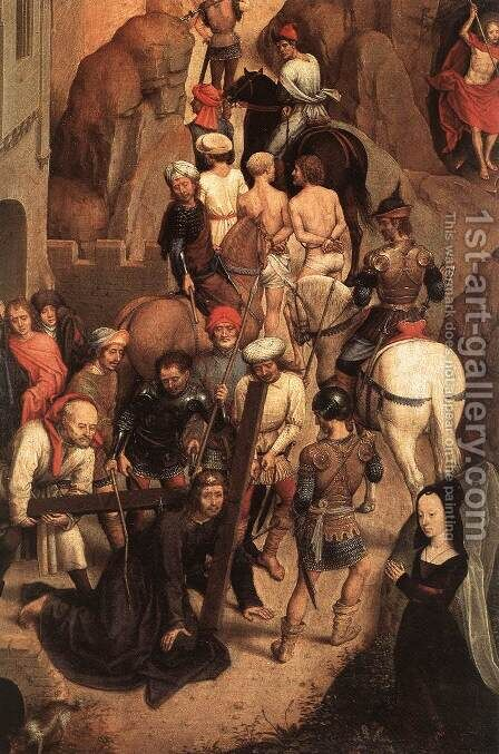 Scenes from the Passion of Christ (detail-6) 1470-71 by Hans Memling - Reproduction Oil Painting