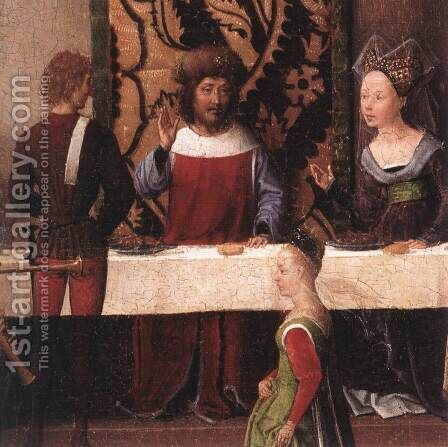 St John Altarpiece (detail-5) 1474-79 by Hans Memling - Reproduction Oil Painting