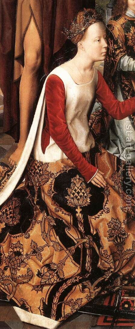 St John Altarpiece (detail-6) 1474-79 by Hans Memling - Reproduction Oil Painting