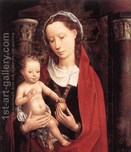 Standing Virgin and Child c. 1490 by Hans Memling - Reproduction Oil Painting