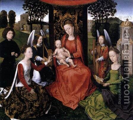 The Mystic Marriage of St Catherine 1479-80 by Hans Memling - Reproduction Oil Painting