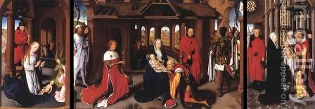 Triptych c. 1470 by Hans Memling - Reproduction Oil Painting