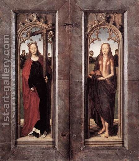 Triptych of Adriaan Reins (closed) 1480 by Hans Memling - Reproduction Oil Painting