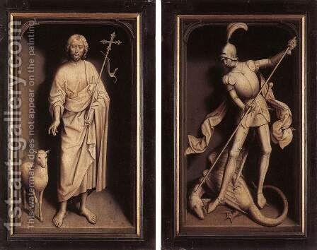 Triptych of the Family Moreel (closed) 1484 by Hans Memling - Reproduction Oil Painting