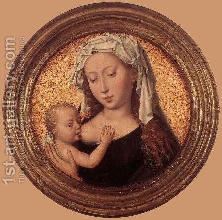Virgin Suckling the Child 1487-90 by Hans Memling - Reproduction Oil Painting