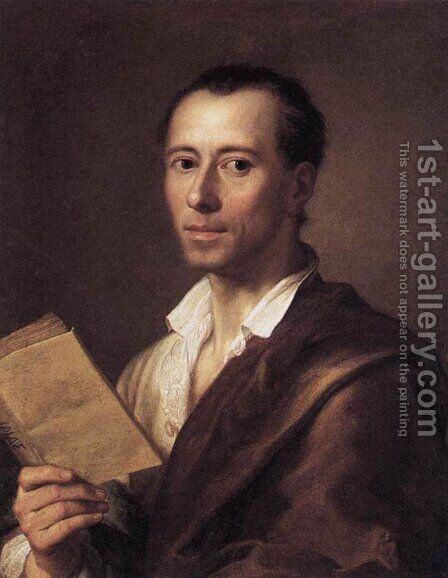 Portrait of Johann Joachim Winckelman 1761-62 by Anton Raphael Mengs - Reproduction Oil Painting
