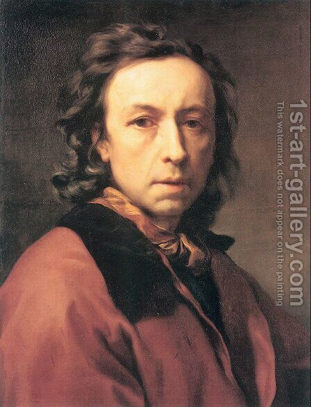 Self-Portrait 1779 by Anton Raphael Mengs - Reproduction Oil Painting