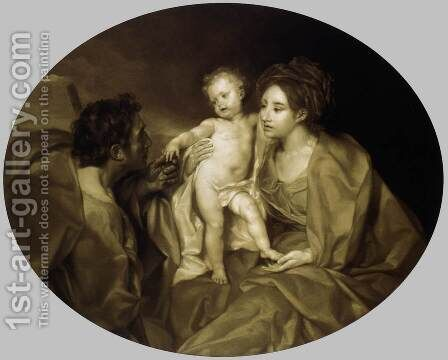The Holy Family 1769 by Anton Raphael Mengs - Reproduction Oil Painting