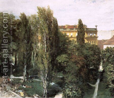 The Palace Garden of Prince Albert 1846 by Adolph von Menzel - Reproduction Oil Painting