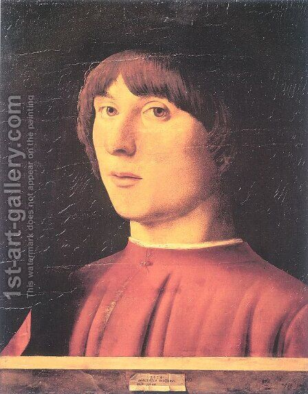 A Young Man 1474 by Antonello da Messina Messina - Reproduction Oil Painting