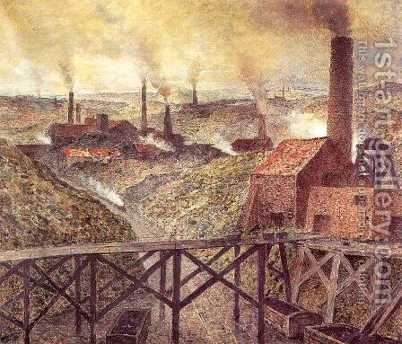 In the Black Country 1893 by Constantin Meunier - Reproduction Oil Painting