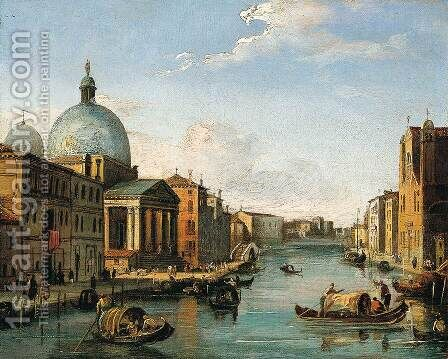 Venetian View by Giovanni Migliara - Reproduction Oil Painting