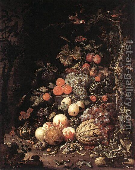 Still-Life 1660s by Abraham Mignon - Reproduction Oil Painting