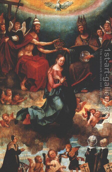 Coronation of the Virgin Mary by Hans Suss von Kulmbach - Reproduction Oil Painting
