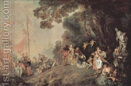 Embarkation for Cythera by Jean-Antoine Watteau - Reproduction Oil Painting