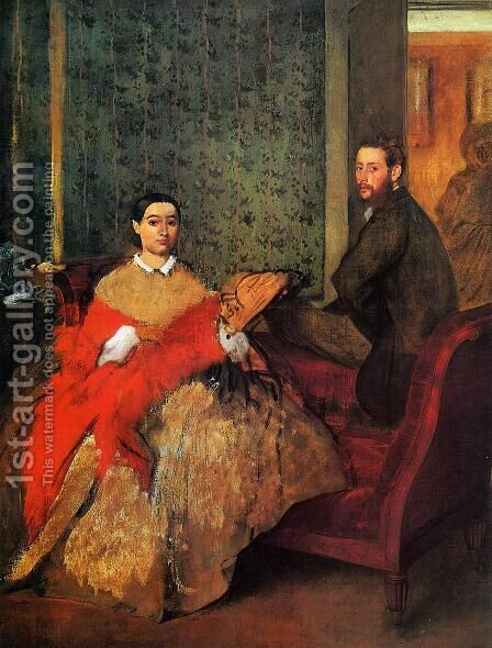Edmondo and Therese Morbilli by Edgar Degas - Reproduction Oil Painting