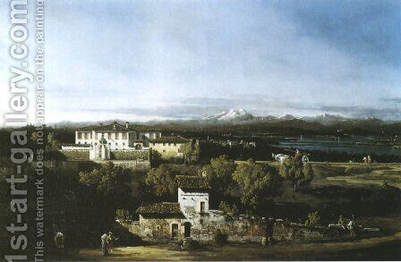View with the Villa Melzi d'Eril by Bernardo Bellotto (Canaletto) - Reproduction Oil Painting