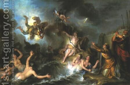 Perseus and Andromeda by Charles-Antoine Coypel - Reproduction Oil Painting