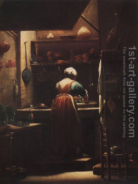 Scullery Maid by Giuseppe Maria Crespi - Reproduction Oil Painting