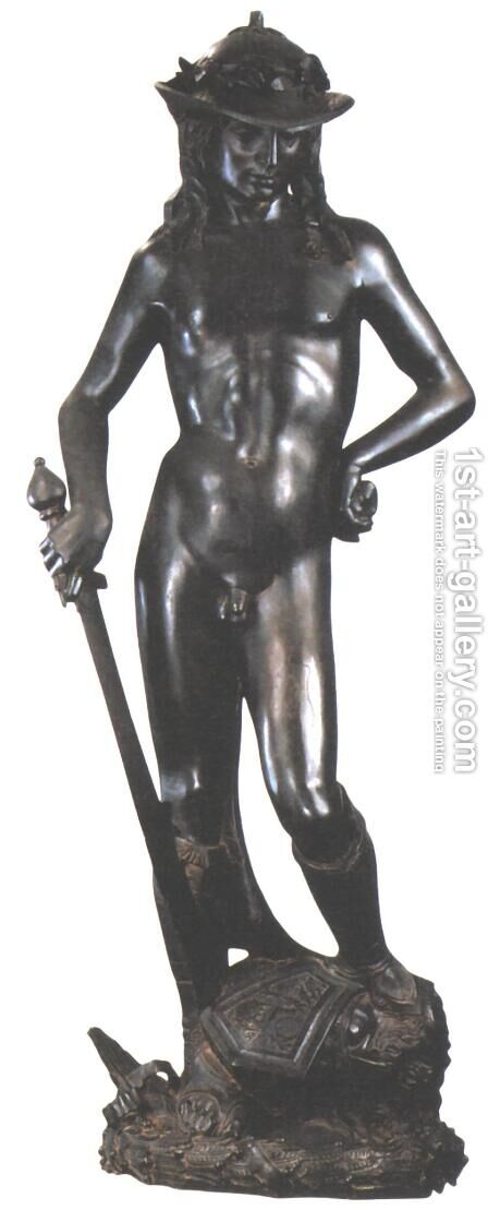 David by Donatello (Donato di Niccolo) - Reproduction Oil Painting