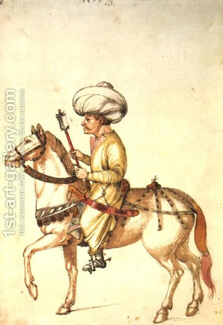 Turkish Horseman by Albrecht Durer - Reproduction Oil Painting