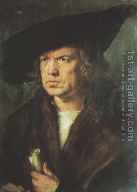 Portrait of a Gentleman by Albrecht Durer - Reproduction Oil Painting