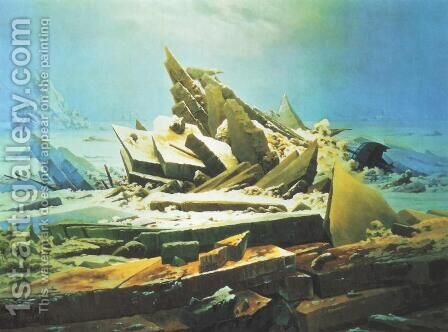 Wreck of the Hope by Caspar David Friedrich - Reproduction Oil Painting