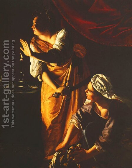 Judith and Maidservant With the Head of Holofernes by Artemisia Gentileschi - Reproduction Oil Painting