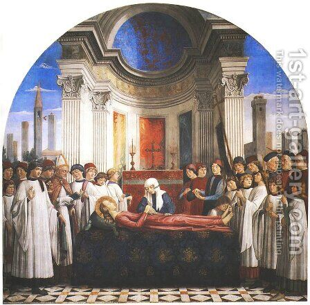 Funeral of St. Fina (Esequie di santa Fina) by Domenico Ghirlandaio - Reproduction Oil Painting