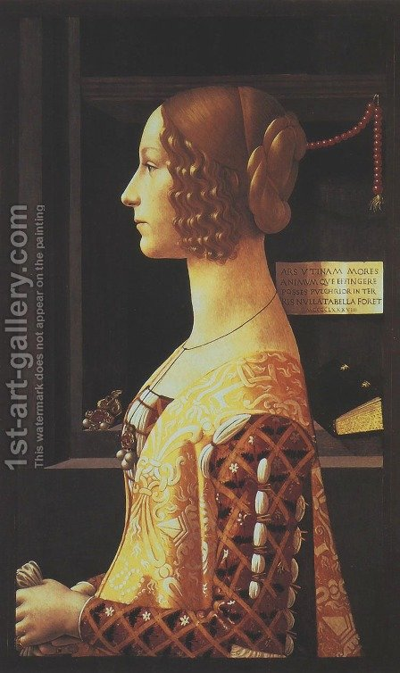 Giovanna Tornabuoni by Domenico Ghirlandaio - Reproduction Oil Painting