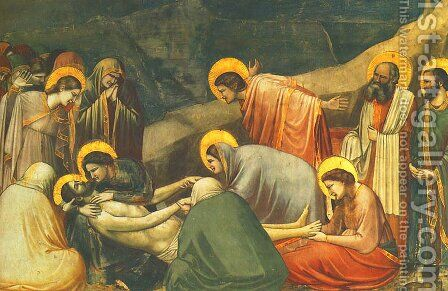 Lamentation by Giotto Di Bondone - Reproduction Oil Painting