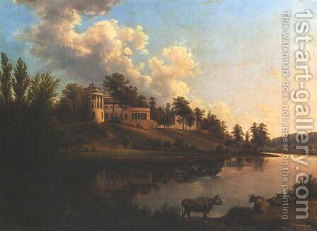 Palace in Zarzecze by Jan Nepomucen Glowacki - Reproduction Oil Painting