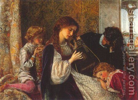 Music Party by Arthur Hughes - Reproduction Oil Painting
