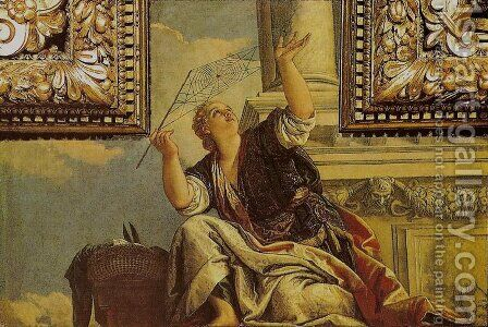 Arachne or Dialectics (Aracne o la Dialettica) by Paolo Veronese (Caliari) - Reproduction Oil Painting