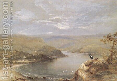 View across an Inlet by Conrad Martens - Reproduction Oil Painting