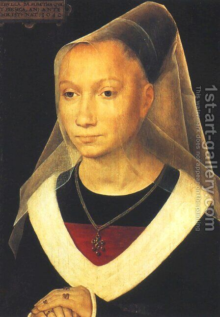 Portrait of a Woman (Sibylla Sambetha) by Hans Memling - Reproduction Oil Painting