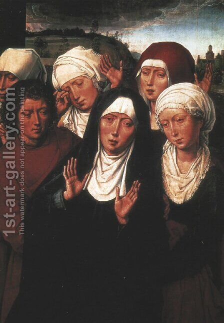 Holy Women Lamenting with St John the Evangelist by Hans Memling - Reproduction Oil Painting