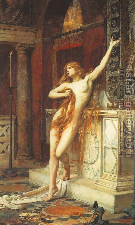 Hypatia by Charles William Mitchell - Reproduction Oil Painting
