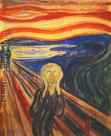 Scream by Edvard Munch - Reproduction Oil Painting