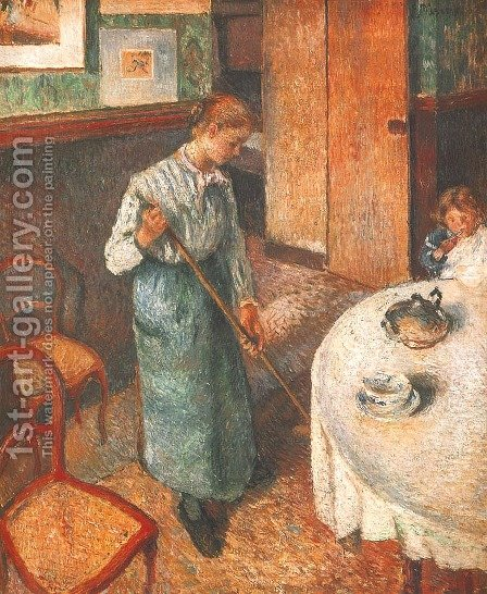 Little Country Maid by Camille Pissarro - Reproduction Oil Painting