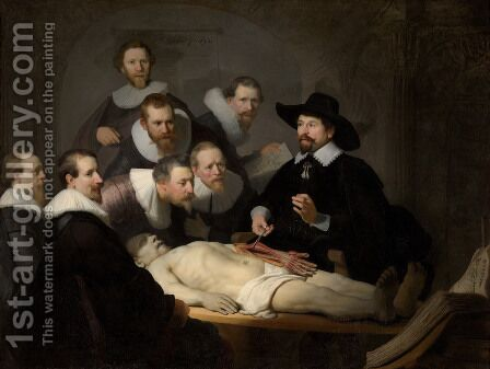 Anatomy Lesson of Dr Tulp by Rembrandt - Reproduction Oil Painting