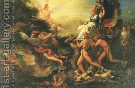 Triumph of Liberty by Jacques Reattu - Reproduction Oil Painting