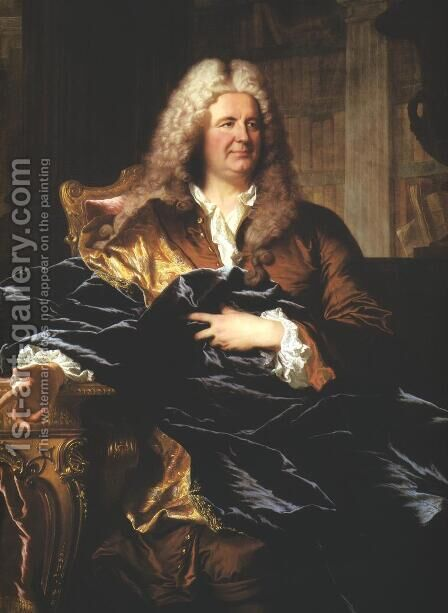 Portrait of Antoine Paris by Hyacinthe Rigaud - Reproduction Oil Painting